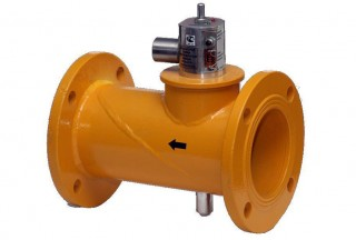 Клапан запорный газовый с электромагнитным приводом КЗГЭМ